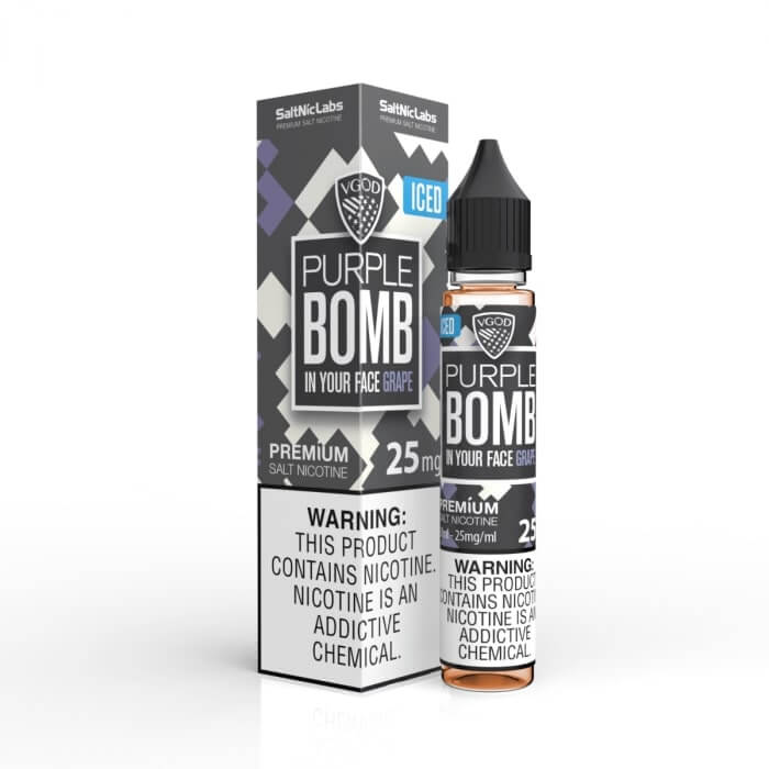 ICED PURPLE BOMB BY VGOD SALTNIC 30ML