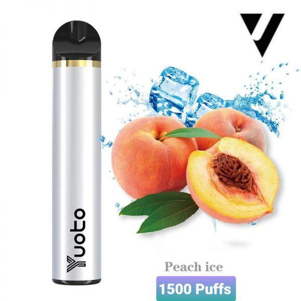 Yuoto 5 Disposable Vape Device 1500 Puffs Peach ice