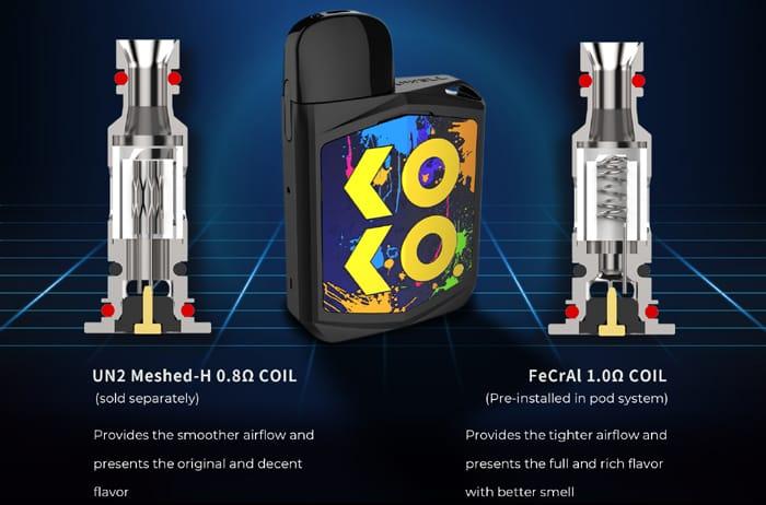 Uwell Caliburn KOKO Prime 690 mah Pod System Kit 15W