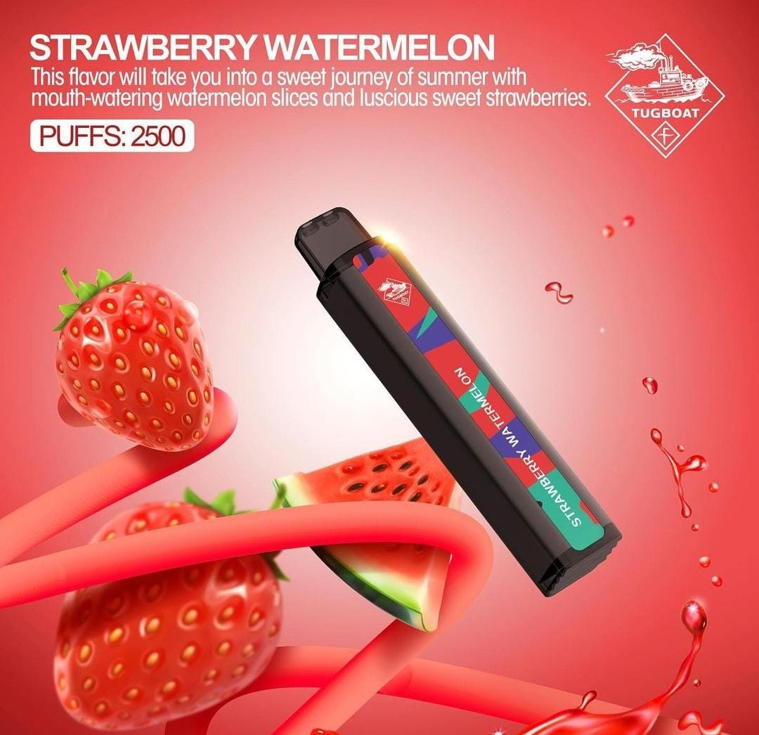 TUGBOAT XXL DISPOSABLE PODS 2500 PUFFS STRAWBERRY WATERMELON