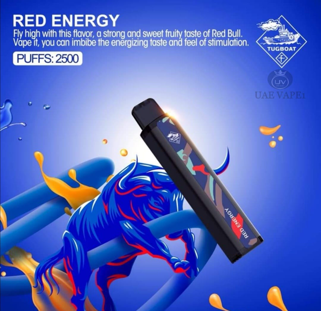 TUGBOAT XXL DISPOSABLE PODS 2500 PUFFS RED ENERGY