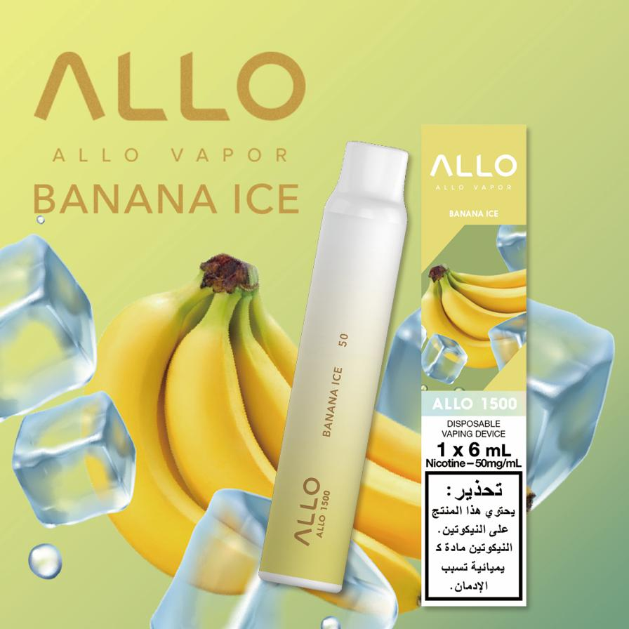 Best BANANA ICE BY ALLO DISPOSABLE 1500 PUFFS