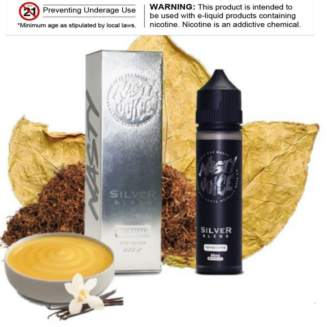 Silver Blend E-liquid by Nasty Juice Tobacco 60ml