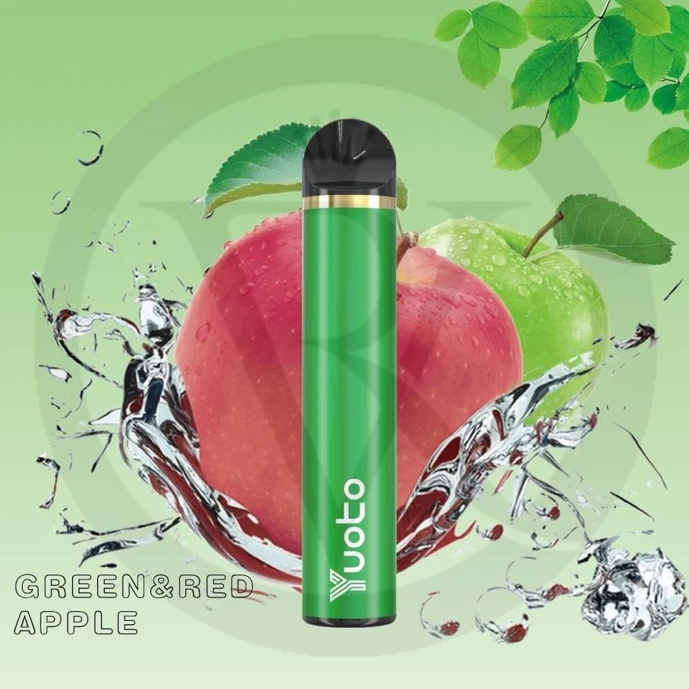 YUOTO DISPOSABLE 1500 PUFFS GREEN & RED APPLE