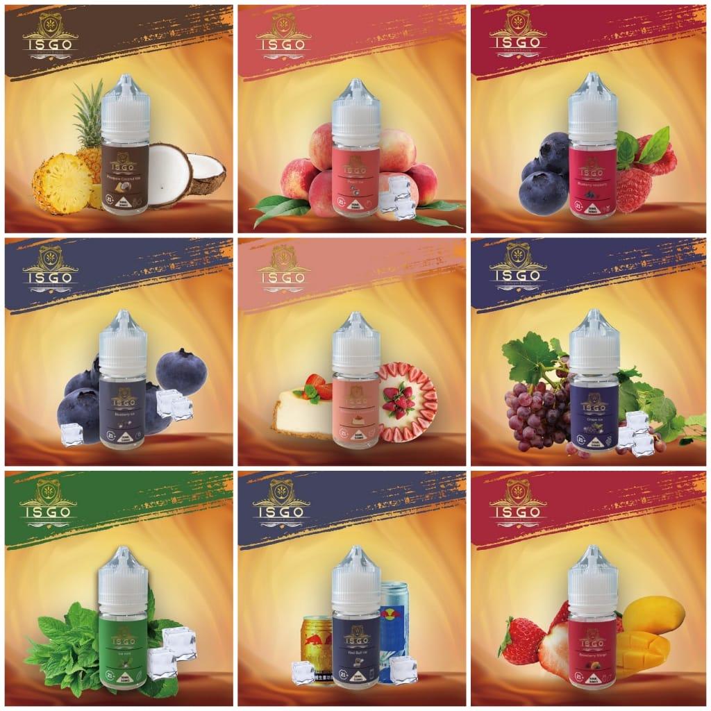 isgo premium e-juice saltnic