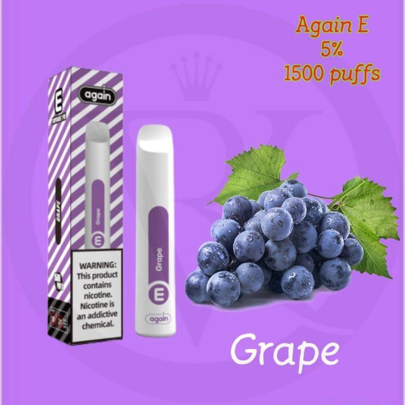 Again E disposable pod Grape